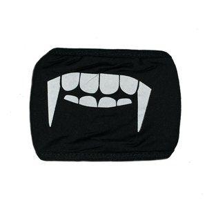 Cosplay Face Mask Black Vampire Teeth NEW